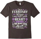 Women's I'm a February Woman T-Shirt Birthday Gift Shirt Small