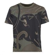 Valentino All-over Panther Print T-shirt