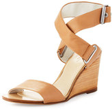 Rag & Bone Damien Leather Wedge Sandal, Nude