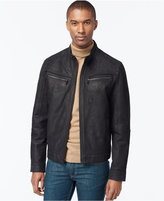 MICHAEL Michael Kors Men's Big & Tall Washed Nubuck Leather Moto Jacket