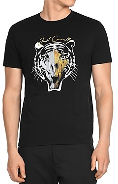 Just Cavalli Black Tiger Graphic Logo Tee