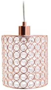 All The Rages Elegant Designs 1 Light Elipse Crystal Cylinder Pendant