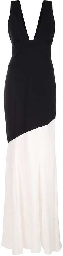 Nicole Miller colour block fishtail gown