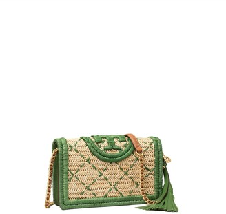 Tory Burch Fleming Soft Straw Wallet Crossbody