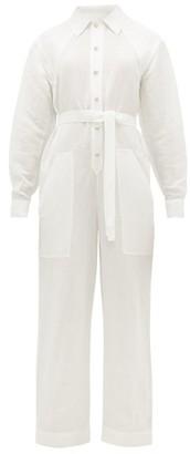 Etro Slubbed Linen-blend Poplin Boiler Suit - White