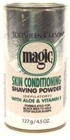 Magic Platinum Shaving Powder 4.5 oz. Skin Conditioning (3-Pack) with Free Nail File