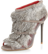 Charles Jourdan Eclipse Fur Bootie, Gray