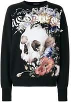 Alexander McQueen floral skull sweatshirt