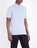 John Smedley Haddon cotton and cashmere polo shirt