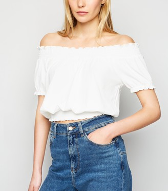 New Look Textured Bardot Top