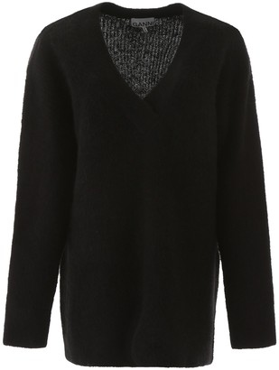 Ganni Oversize V-Neck Sweater