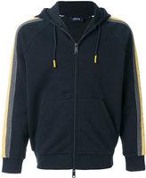 Armani Jeans striped sleeve zipped hoodie