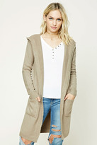 Forever 21 FOREVER 21+ Contemporary Hooded Cardigan