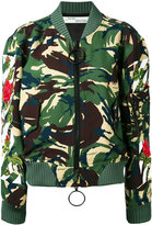 Off-White camouflage bomber jacket - women - Cotton/Acrylic/Polyamide/Wool - XXS