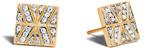 John Hardy Modern Chain Stud Earring in 18K Gold with Diamonds