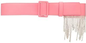 MSGM Crystal-Embellished Belt