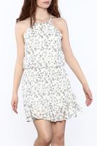 Paper Crane Smocked Waist Floral Dress