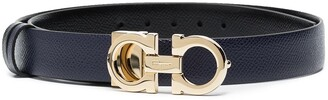 Salvatore Ferragamo textured-leather Gancini buckle belt