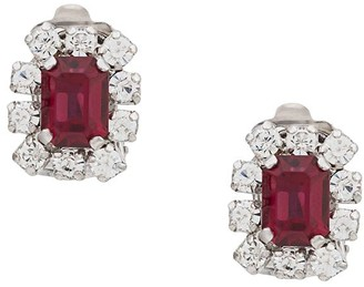 Christian Dior x Susan Caplan 1978 rhinestone clip on earrings