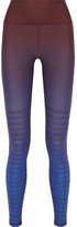 adidas by Stella McCartney Train Miracle Printed Climalite Stretch Leggings - Burgundy