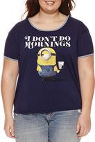 Fifth Sun Short Sleeve Scoop Neck Minons Graphic T-Shirt