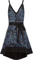 Proenza Schouler Printed cotton and silk-blend mini dress