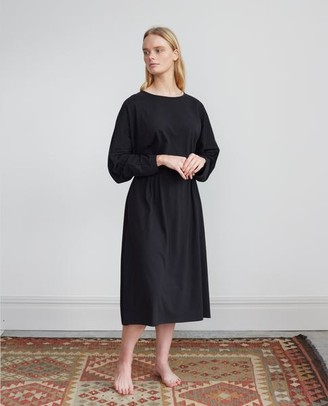 Beaumont Organic Talita Organic Cotton Dress In Black - Black / Large