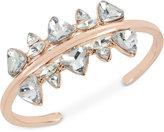 INC International Concepts Rose Gold-Tone Large Crystal Cuff Bracelet, Only at Macy's