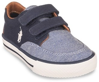 Ralph Lauren Baby's & Little Boy's Layton EZ Chambray Grip-Tape Sneakers