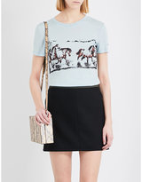 Ganni Horse Print Lyocell T-shirt