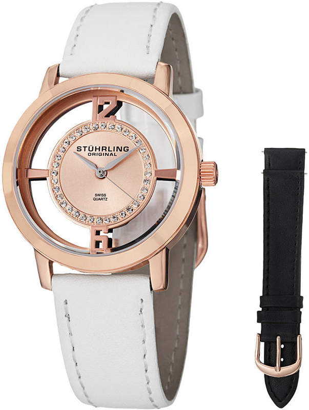Stuhrling Original Womens White Strap Watch-Sp14654