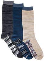 Muk Luks Men's Marled Crew Socks Pack (3 Pairs)