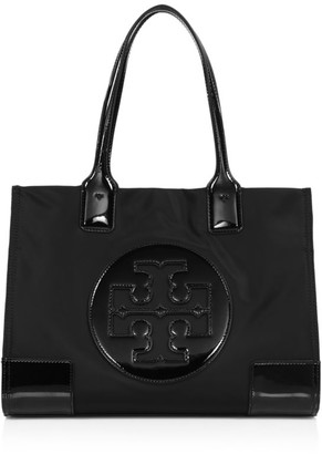 Tory Burch Mini Ella Patent Leather-Trimmed Nylon Tote