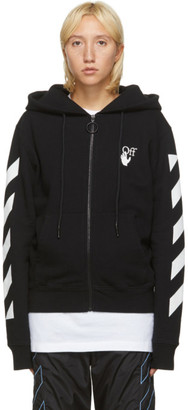 Off-White Black and White Agreement Zip-Up Hoodie