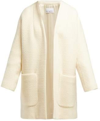 Raey Collarless Wool Boucle Coat - Womens - Ivory