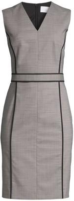 BOSS Doretti Piped Wool-Blend Dress