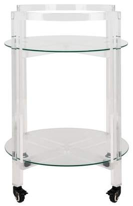 Safavieh Jules 2 Tier Acrylic Bar Cart Clear