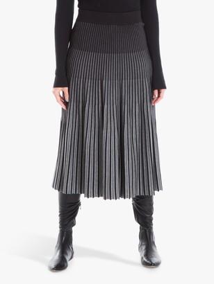 Max Studio Knitted Skirt, Black/Charcoal