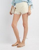 Charlotte Russe Lace Crochet-Trim Shorts