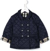 Burberry quilted peplum hem coat - kids - Nylon/Polyester - 6 mth