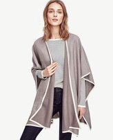 Ann Taylor Tipped Poncho Cape