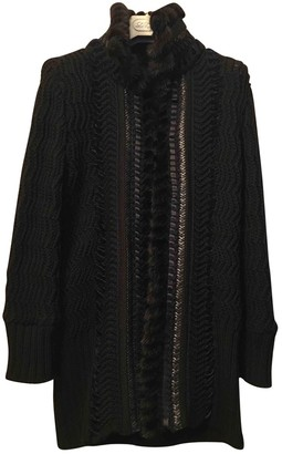 Roberto Cavalli Black Wool Coat for Women