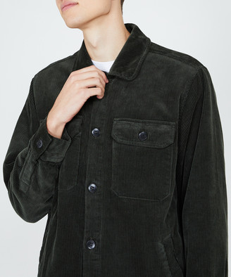 Spencer Project Cord Shirt Jacket Forrest Green