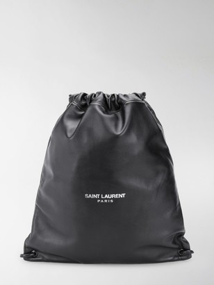 Saint Laurent Teddy logo-print backpack