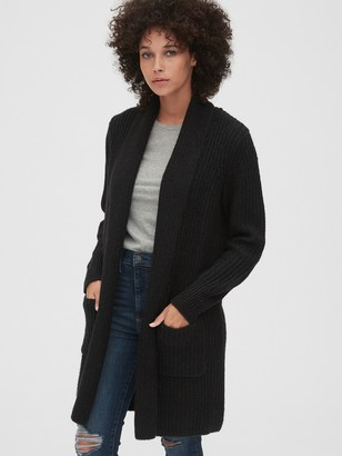 Gap Ribbed Coat Cardigan Sweater
