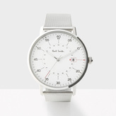 Paul Smith Men's White And Silver 'Gauge' Watch