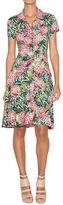 Nicole Miller Floral Print A-Line Dress