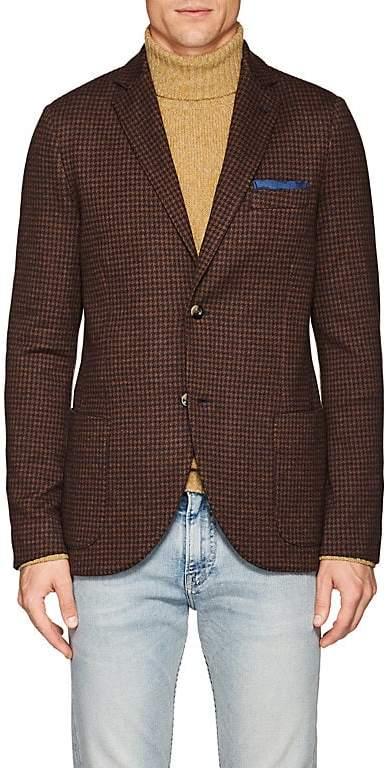 Loro Piana Men's Houndstooth Cashmere-Silk Sportcoat