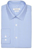 Perry Ellis Very Slim Blue Gingham Dress Shirt