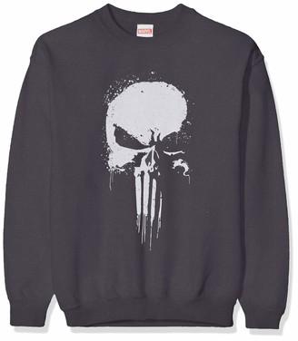 Marvel Girl's Knights Paintspray Skull Sweatshirt